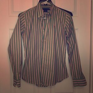 RALPH LAUREN SLIM FIT BUTTON DOWN OXFORD SIZE 4